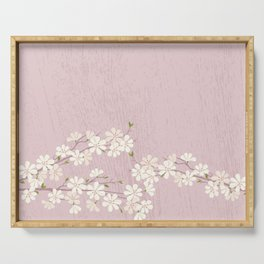 Pink Blossom Serving Tray