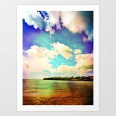 Rainbow Paradise Art Print