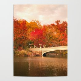 New York City Autumn Magic in Central Park Poster