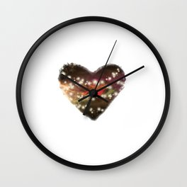 Space Heart Wall Clock