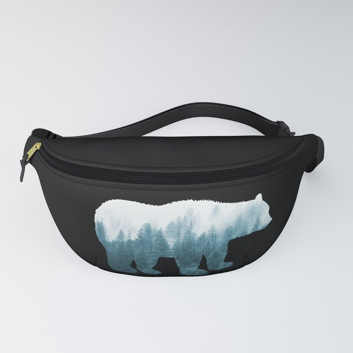 Misty Forest Bear - Turqoise Fanny Pack