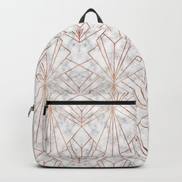 Art Deco Marble & Copper Backpack