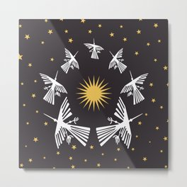 Nazca Lines in a Starry Sky (Condor-Peru) Metal Print