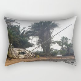 Beached in Kribi Rectangular Pillow