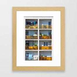 Apartment balcony Framed Art Print