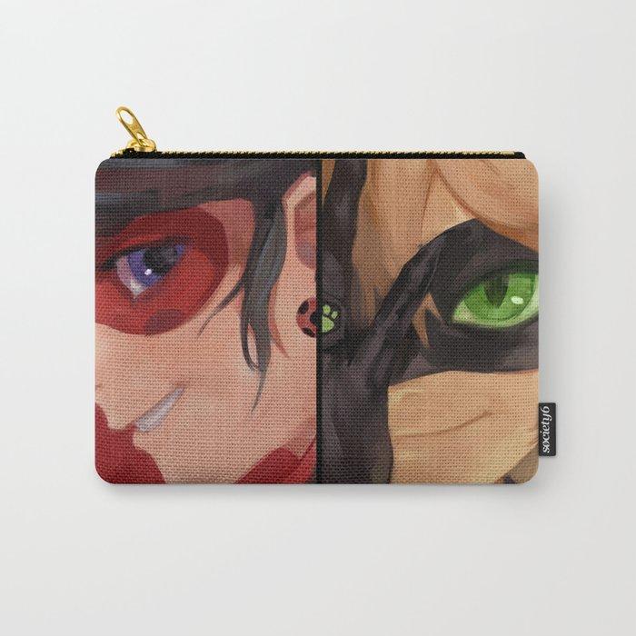 ladybug & cat noir Carry-All Pouch