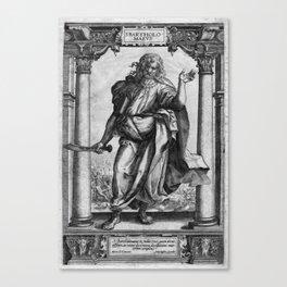 Saint Bartholomew Antique Engraving Canvas Print