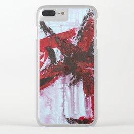 Blood Bath Clear iPhone Case