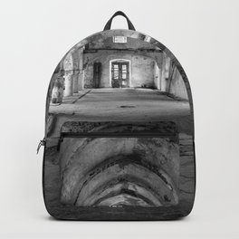 A derelict churh in Northern Cyprus Backpack