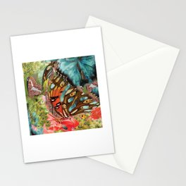 Butterfly in the garden Stationery Cards