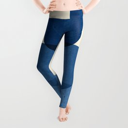 Abstract Shapes 37-Blue Leggings