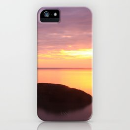 Fiery Sunset over the Porkies iPhone Case
