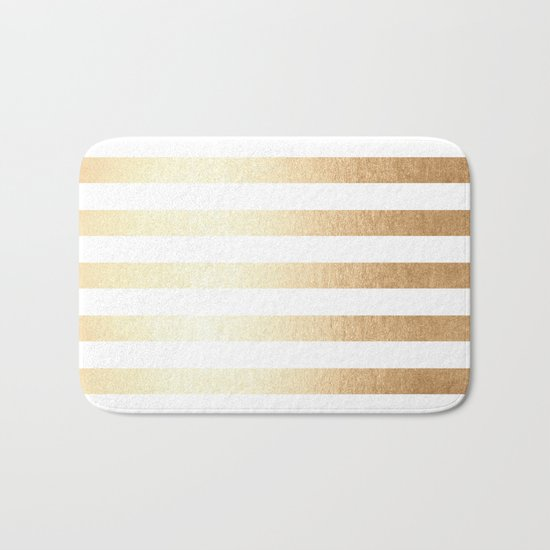Simply Striped Golden Copper Sun Bath Mat
