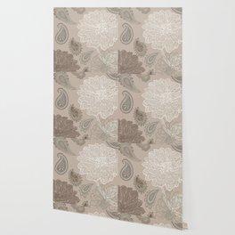 Cocoa Paisley V Wallpaper