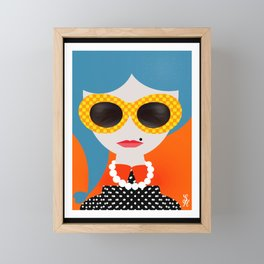 Pearl Framed Mini Art Print
