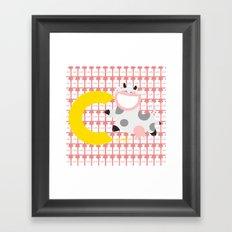 c for cow Framed Art Print