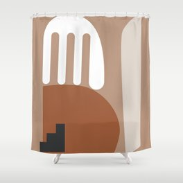 Shape study #10 - Stackable Collection Shower Curtain
