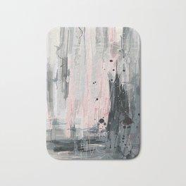 Soft Pink Abstract Bath Mat