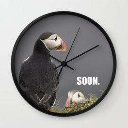 Evil Plotting Puffin Wall Clock