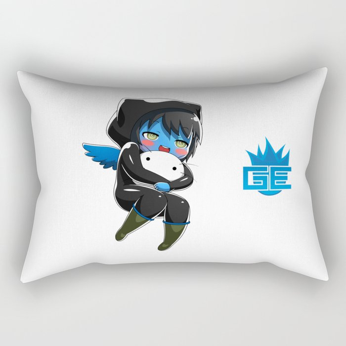 Fuzzy Chibi Luc (Expression 1)  Rectangular Pillow