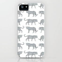 Leopards on the Prowl Pattern in Pencil iPhone Case