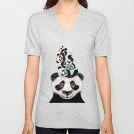 Panda Totæm Unisex V-Neck