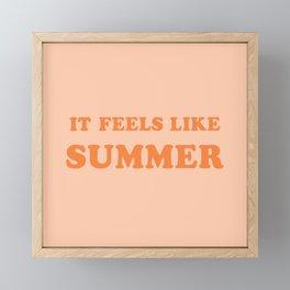 It Feels Like Summer Framed Mini Art Print