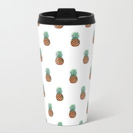 Pineapples Pattern Metal Travel Mug