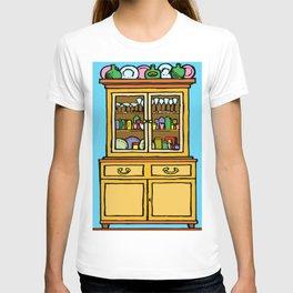 kitchen cupboard art, kitchen cupboard drawings, kitchen decor, T-shirt