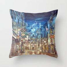 Breach to Diagon Alley Throw Pillow