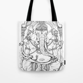 Ganesha Lineart Tote Bag