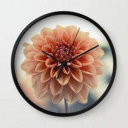 Dahlia Flower Wall Clock