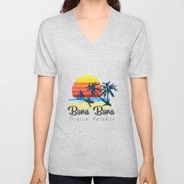 Bora Bora - Summer Vacation Maldives Travel Destination Gift Unisex V-Neck