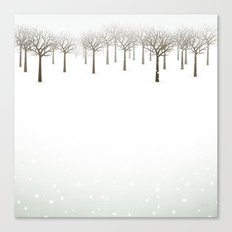 Winter Forest by Friztin Canvas Print