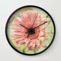 shabby chic Wall Clocks featuring Shabby Chic by whimsy canvas