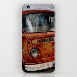 rusted bus iPhone Skin