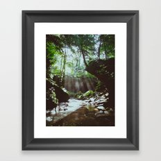 Streams of Light Framed Art Print