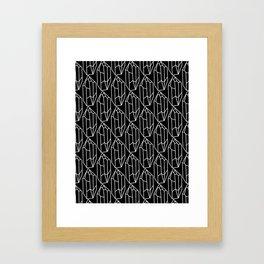 Black Crystal Pattern Framed Art Print
