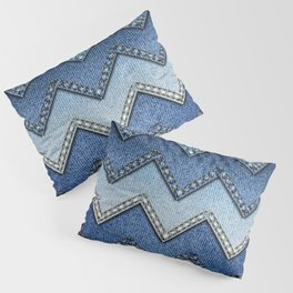 Stitched Denim Pillow Sham