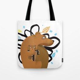 small and big bear Tote Bag