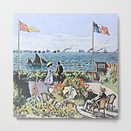 Monet's Garden at Sainte-Adresse - Der Roj study Metal Print