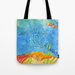 Secret Turtle Tote Bag