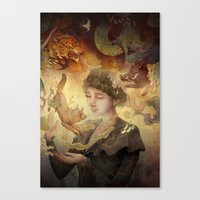 silent Canvas Prints featuring Silent Visions by Corinne Reid