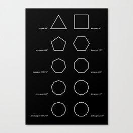 Greek Polygons Canvas Print