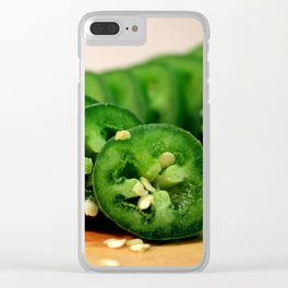 Jalapeno Pepper Clear iPhone Case