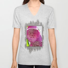 Digitalis named Excelsior Pink Unisex V-Neck