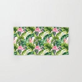 Flamingo Tropical || #pattern #tropical Hand & Bath Towel