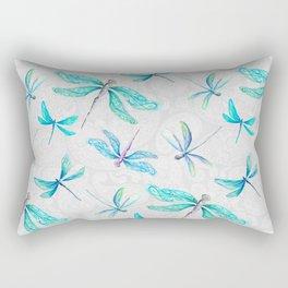 Dragonflies on Paisley Rectangular Pillow
