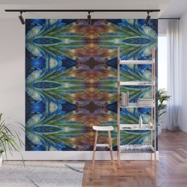 Feather Bloom Study Pattern Wall Mural