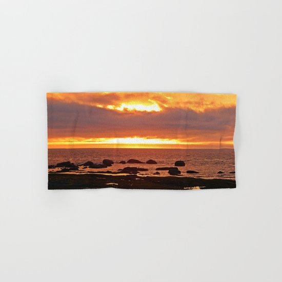 Stunning Orange Sunset Hand & Bath Towel